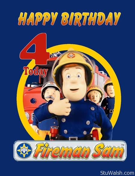 Fireman Sam 4th Birthday